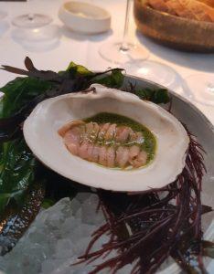 De vierde gang van het menu van restaurant The Jane in Antwerpen van 31 oktober 2 sterren zaak Arctica islandica