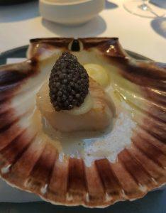 noorse coquille, belgian caviar, schelpenjus bij de Jane in Antwerpen